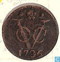 VOC 1 duit 1736 Holland