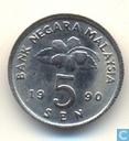 Malaysia 5 sen 1990