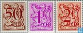1982 Digit on heraldic lion with B in an oval and streamer (BEL D15)