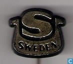 S Sweden [gold on black]