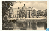 Veliusbrug met U.L.O. school, Hoorn