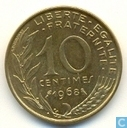 France 10 centimes 1968