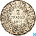 Frankrijk 2 francs 1871 (A)