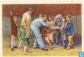 """Vlaanderen - De """"Kanonniers"""" schieten voor de jonggehuwden."""