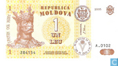 Moldavie 1 Leu 2005