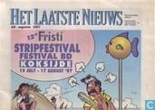 Het Laatste Nieuws - 12e Fristi Stripfestival Festival BD Koksijde 19 July - 17 August '97