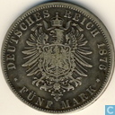Pruisen 5 mark 1876 (A)