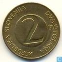 Slovénie 2 tolarja 1995