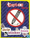 Taptoe strip sticker boek
