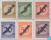 1923 Opdruk op cijferzegels (DR D13)