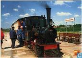 Stoomlocomotief n. 3 Marijke met trein langs het perron Valkenburgse Meer