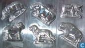 Mallen en matrijzen - Chocoladevormen - Dierenfiguren plaat
