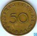 Saarland 50 franken 1954