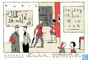 Uitnodigingskaart Galerie Lambiek