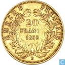 France 20 francs 1855 (D)