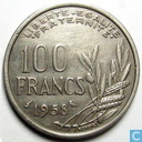 France 100 francs 1958 (without B - owl)