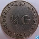 Netherlands Antilles ¼ gulden 1965