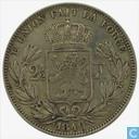 Belgium 2½ francs 1849 (big head)