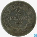 Belgium ½ franc 1834 (long horizontal line of 4)