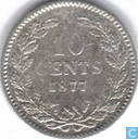 Pays Bas 10 cent 1877