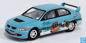 Voitures miniatures - Johnny Lightning - Mitsubishi Lancer Evolution 'Coca Cola'