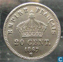 France 20 centimes 1867 (BB)
