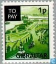 Gezichten Gibraltar op