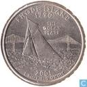 """États-Unis ¼ dollars 2001 D """"Rhode Island"""""""