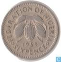 Nigeria 6 pence 1959