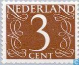 Timbres-poste - Pays-Bas [NLD] - Chiffre - type 'van Krimpen'