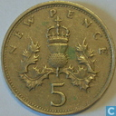 Coins - United Kingdom - United Kingdom 5 new pence 1969