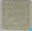 Nederlands-Indië 20 cents 1890 Plantagegeld Sumatra, Goerach Batoe