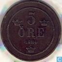 Zweden 5 öre 1884