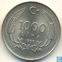 Turkey 1000 lira 1990