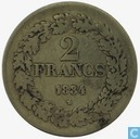 België 2 frank 1834