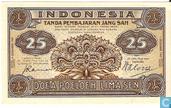 Billets de banque - Indonésie - 1947 Third Issue - Indonésie 25 Sen 1947