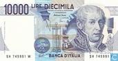 Italy, 10,000 Lire (P112d)