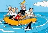 Suske en Wiske in rubberboot