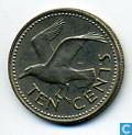 Monnaies - Barbados - Barbade 10 cents 1973