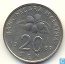Maleisië 20 sen 1989