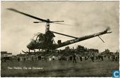 Hiller OH-23 Raven op de Harssens in Den Helder