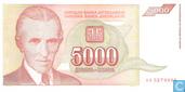 Jugoslawien 5.000 Dinara 1993