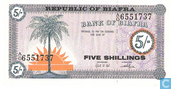 Biafra 5 Shillings ND (1968)