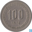 South Korea 100 won 1973