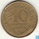 France 10 centimes 1967