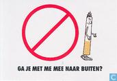 """B080241 - www.horecarookvrij.nl """"Ga je mee naar buiten?"""""""