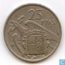 Espagne, 25 pesetas 1961