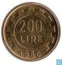 Italie 200 lire 1980