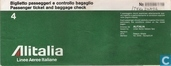 Alitalia Passenger ticket and baggage check