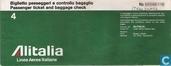 Aviation - Alitalia - Alitalia Passenger ticket and baggage check